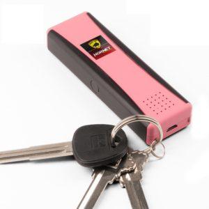Guard Dog LED Stun Gun Keychain 120dB Alarm – Recharge Pink