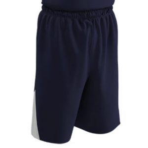 Champro Adult DRI GEAR Pro Plus Basketball Short Nvy Wht SM