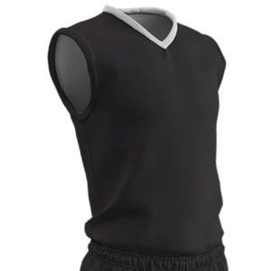 Champro Adult Clutch Basketball Jersey Black White Medium