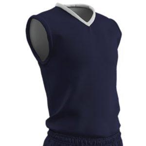 Champro Adult Clutch Basketball Jersey Navy White Medium