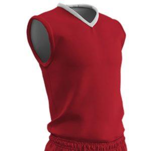Champro Adult Clutch Basketball Jersey Scarlet White Medium