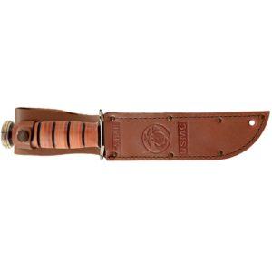 KA-BAR Full-Size USMC Brown Leather Sheath