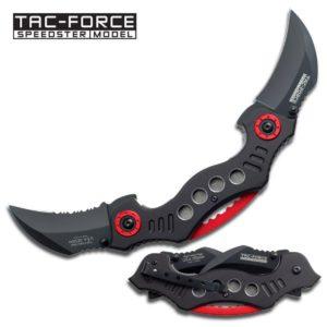 Tac-Force Dual Karambit Blades 2.5 in Black Aluminum Handle