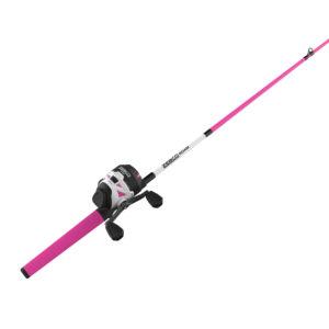 Zebco Roam 3Sz Pink 602M Spincast Combo 10#C